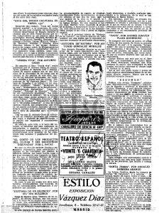 Reseña del libro Oasis en el ABC 07-02-1951 pagina 008